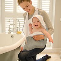 Toalha Cuddledry Infanti Grey